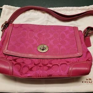 Coach Authentic Vintage Pink Signature Jacquard